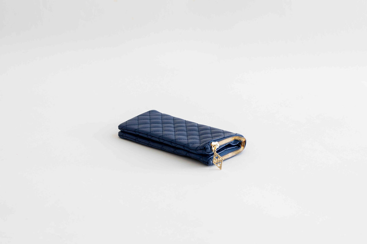 Quilted Pouch / Navy