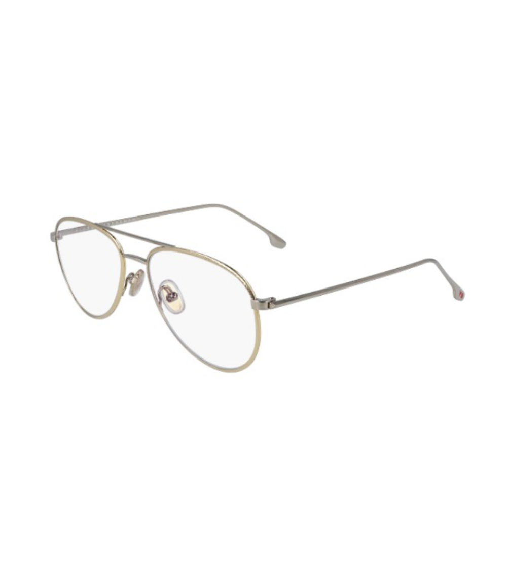 Textured Metal Aviator Optical / Gold & Silver