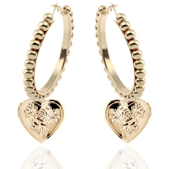ADORE ME ULTRA HOOP EARRINGS 24K