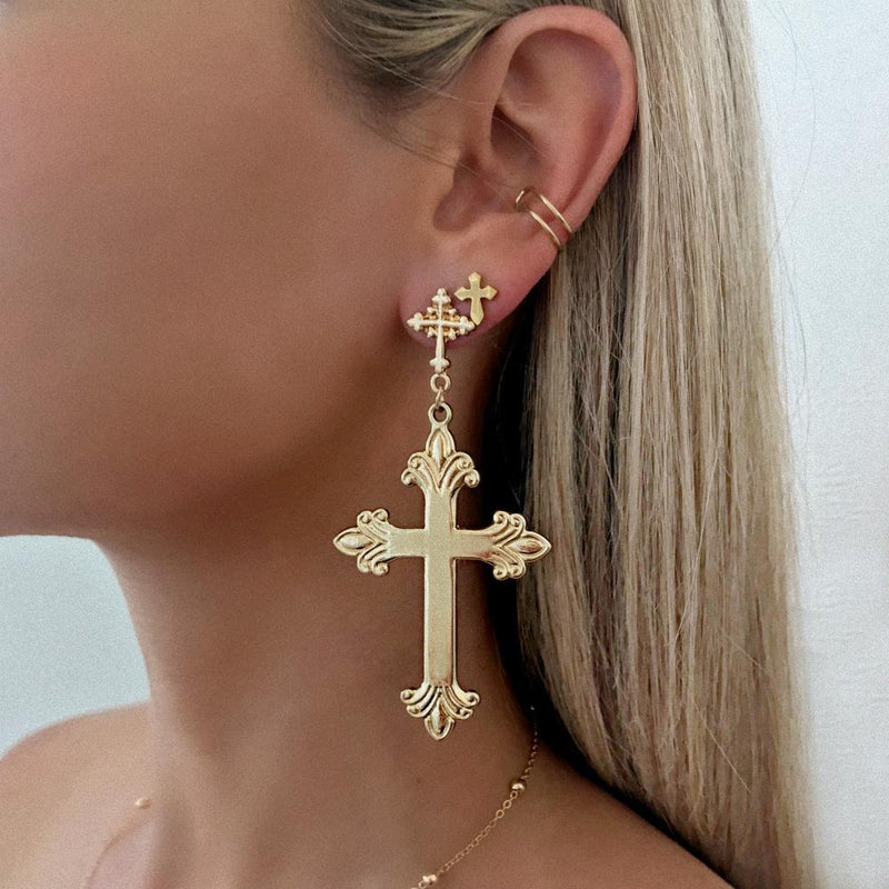 SAINT SWOON EARRINGS - SILVER
