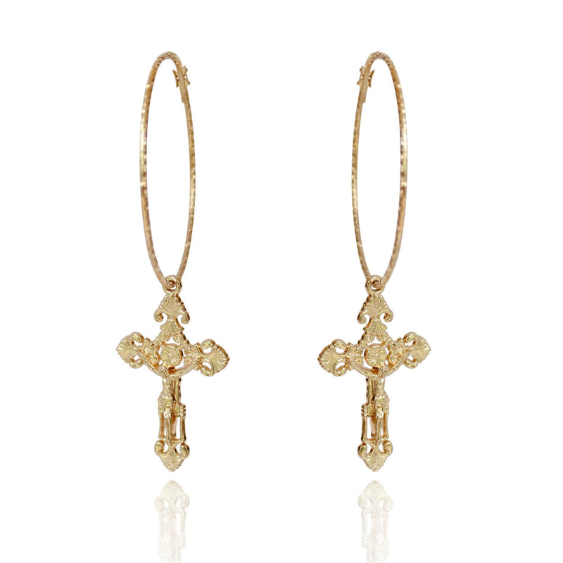 LUCIFER CRUCIFER EARRINGS
