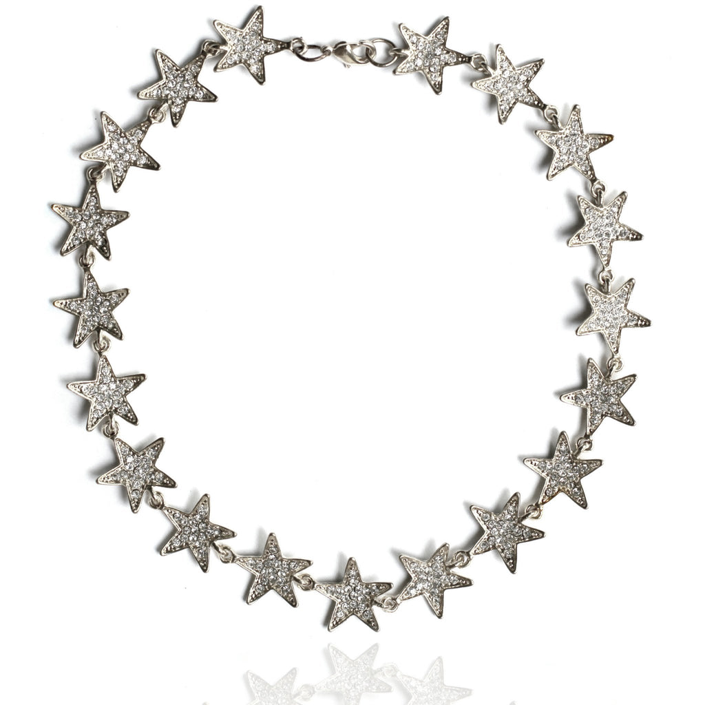 AMONG THE LEADERS CHOKER - SILVER
