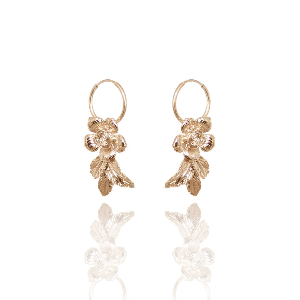 HONEYCOMB MICRO HOOPS 24K