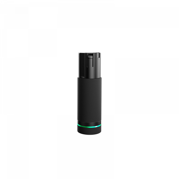 Black battery for Hyperice with a green light ring on bottom