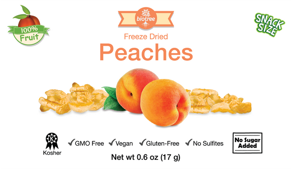 Snack Size Freeze Dried Peaches (0.6 oz)