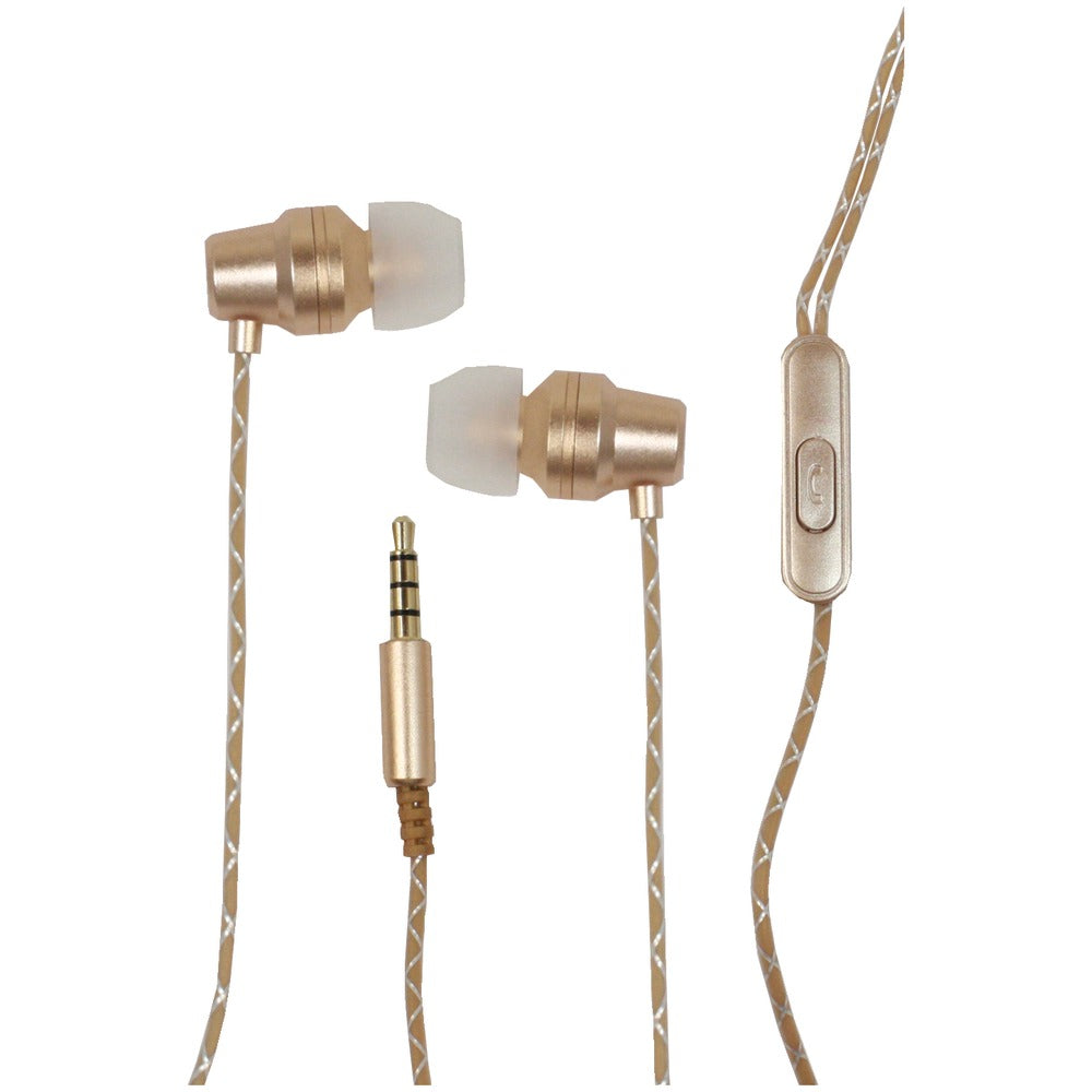 Billboard BB574 Extra Bass Stereo Earbuds with Microphone (Gold)