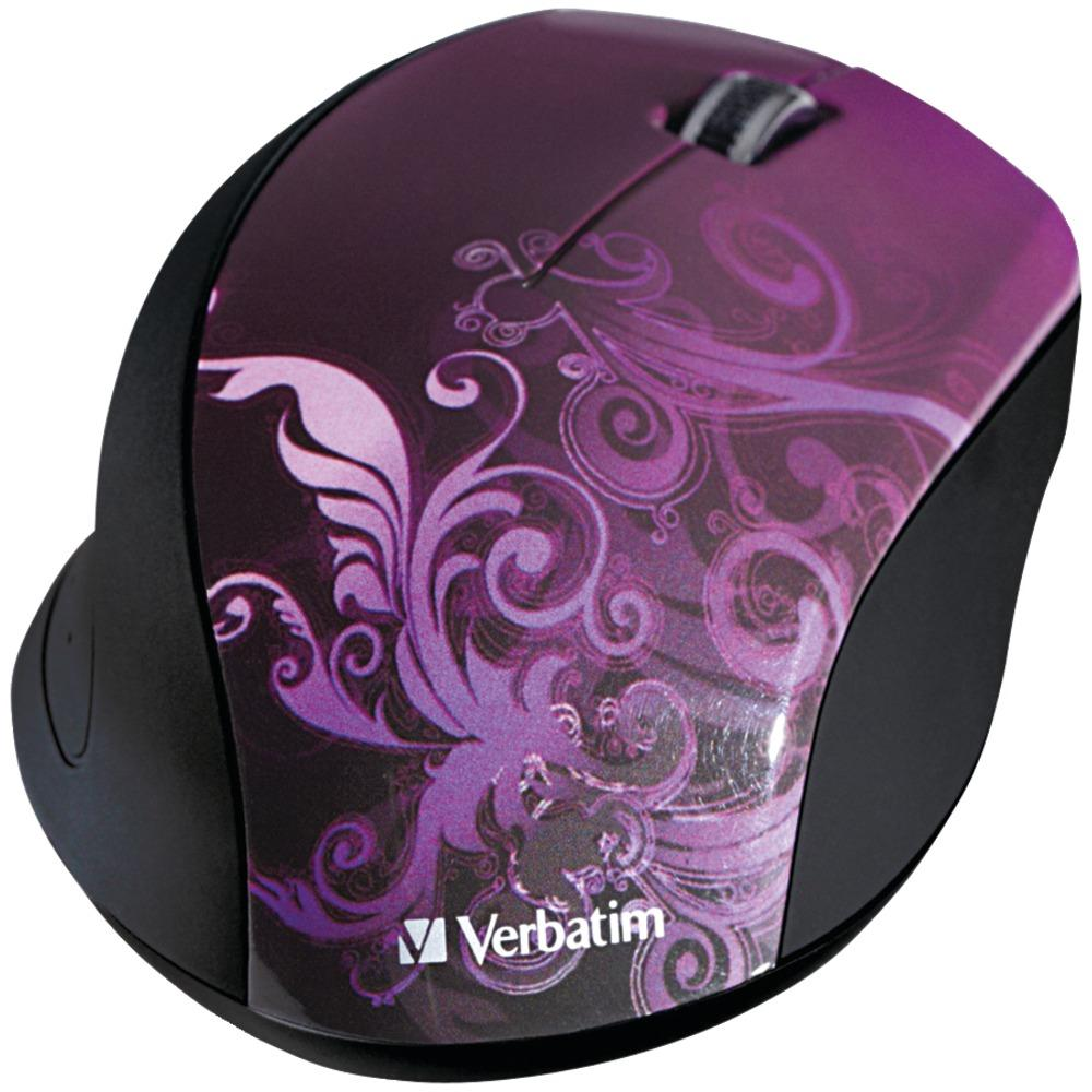 Verbatim Wireless Optical Mouse (purple)