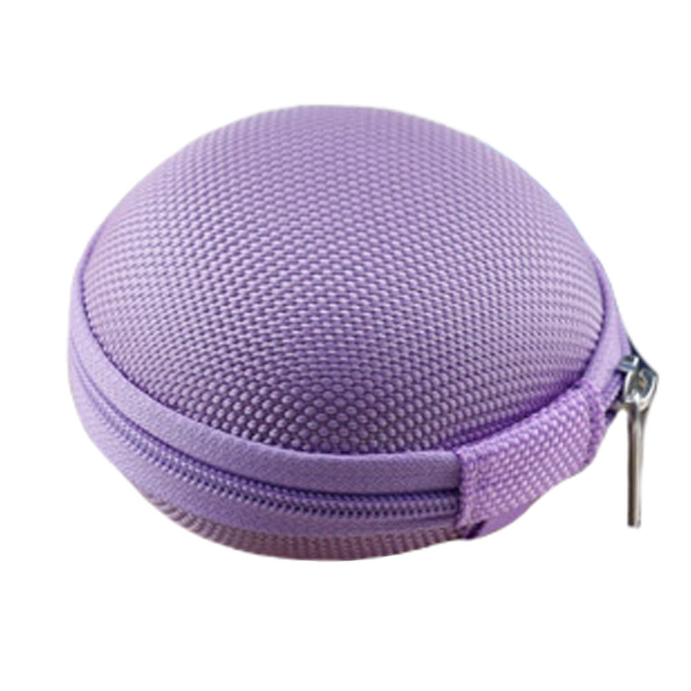 2PCS Portable Earbuds Case Earphone Holder Earbud Pouch Coins Bags Cases, Purple