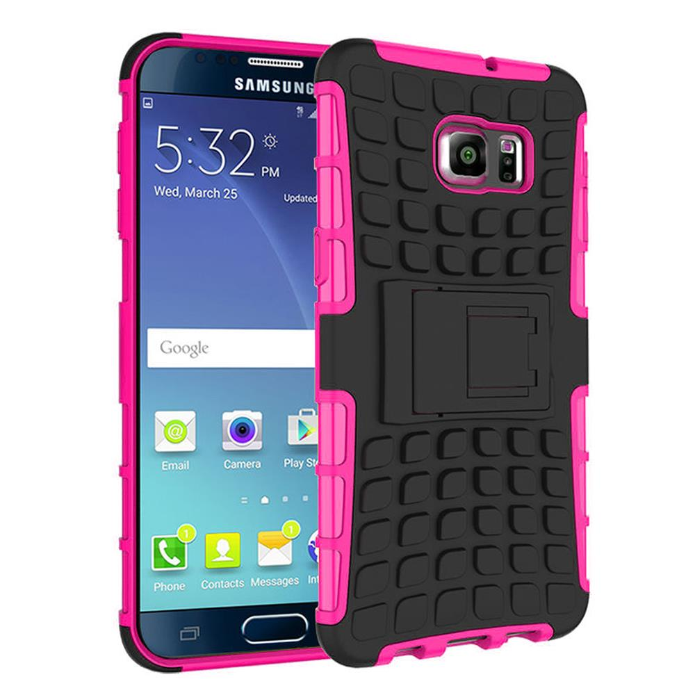 Samsung Galaxy Note 5 TPU Slim Rugged Hybrid Stand Case Cover Pink