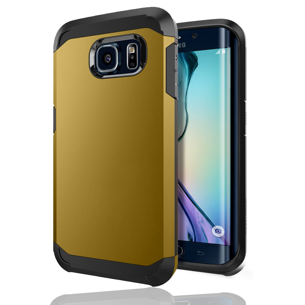 Samsung Galaxy S6 Edge TPU Slim Rugged Hard Case Cover Gold