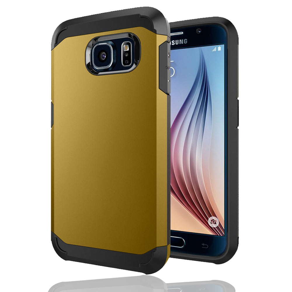 Samsung Galaxy S6 TPU Slim Rugged Hard Case Cover Gold