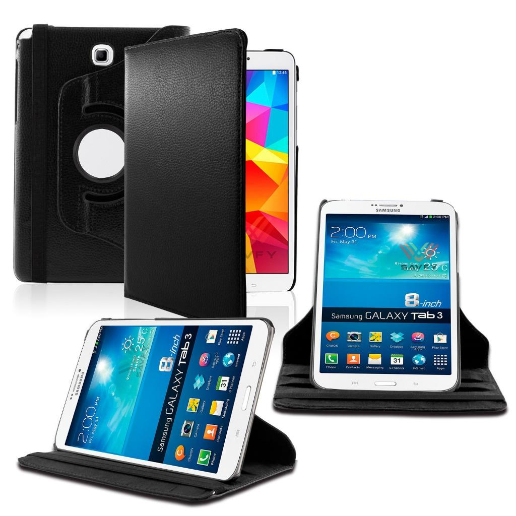 Samsung Galaxy Tab A 9.7 / T550 360 Rotating Leather Cover Black