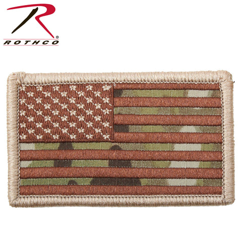 U.S. Flag Multicam Patch with Hook Backing  $6.00
