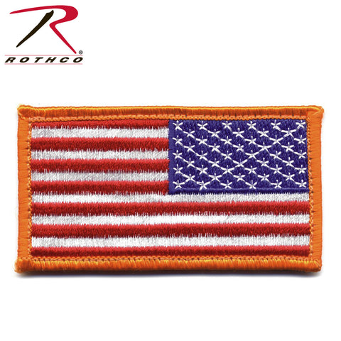 U.S. Flag Red/White/Blue Reverse Patch with Hook Backing  $6.00