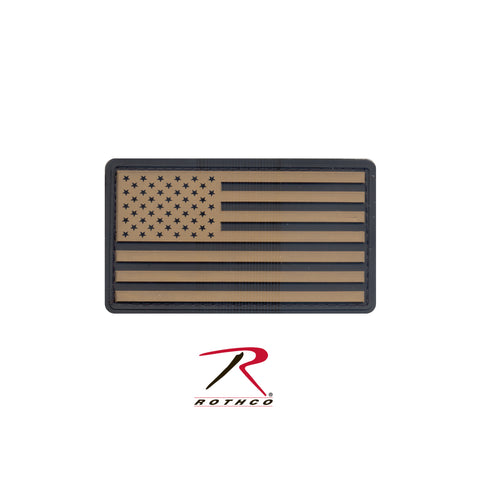 U.S. Flag Khaki and Black PVC Patch with Hook Backing  $6.00