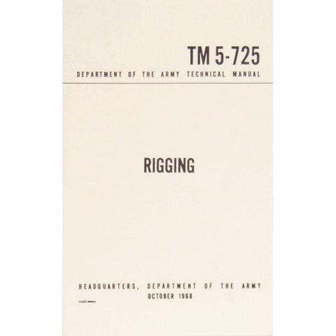 Rigging TM 5-725  $9.95