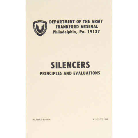 Silencers Principles and Evaluation  $9.95