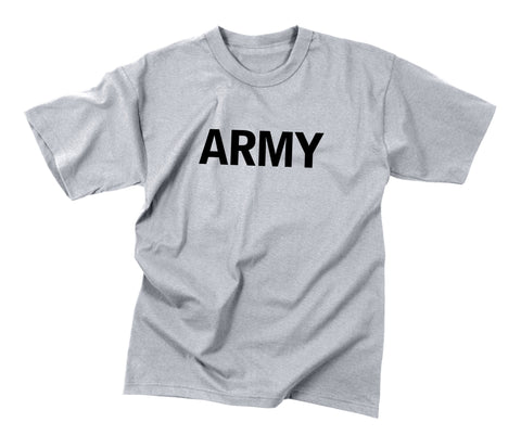 Kids Grey ARMY PT T-Shirts  $11.95