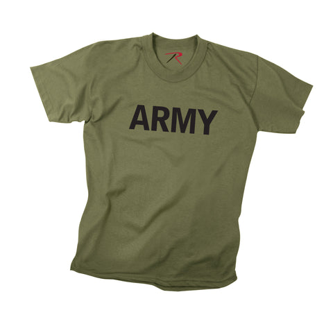 Kids Olive ARMY PT T-Shirts  $11.95