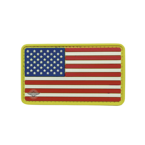 U.S. Flag Full Color PVC Patch with Hook Backing $6.00