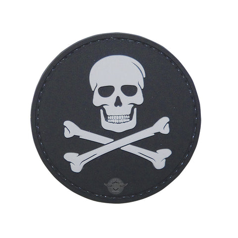 Jolly Roger PVC Patch with Hook Backing  $6.00