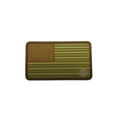 U.S. Flag Multicam PVC Patch with Hook Backing $6.00