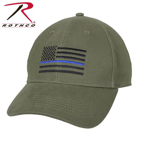 Olive Drab Thin Blue Line Low Profile Cap