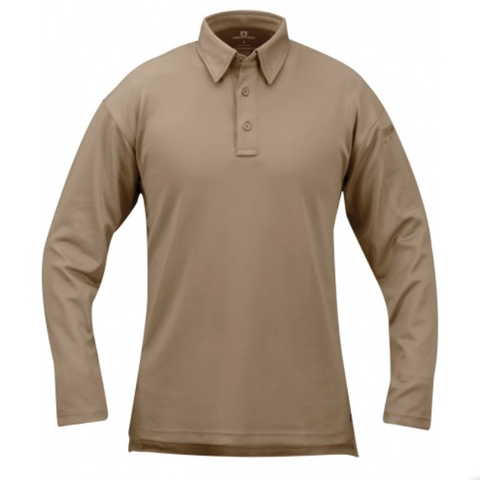 I.C.E. Performance Polo - Long Sleeve - Tan $49.95