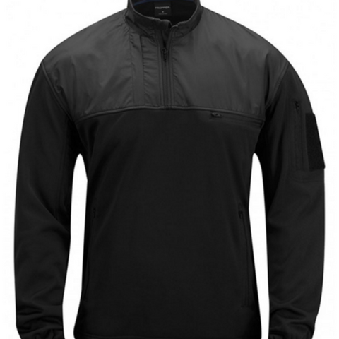 Practical Fleece Pullover - Black $69.95