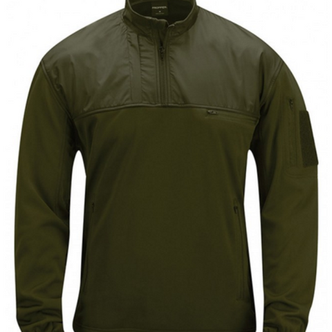 Practical Fleece Pullover - Olive $69.95