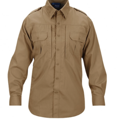 Mens lightweight tactical shirts - long sleeve - Coyote