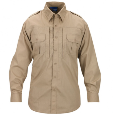 Mens lightweight tactical shirts - long sleeve - Khaki  $44.95