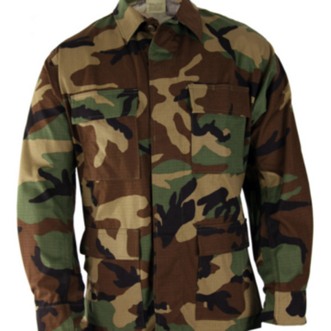 BDU Shirt - Woodland - $39.95