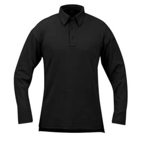 I.C.E. Performance Polo - Long Sleeve - Black $49.95
