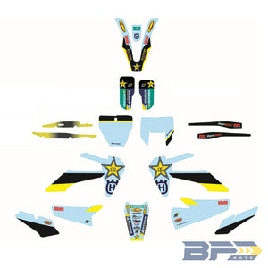 Husqvarna Rockstar Factory Graphics Kit
