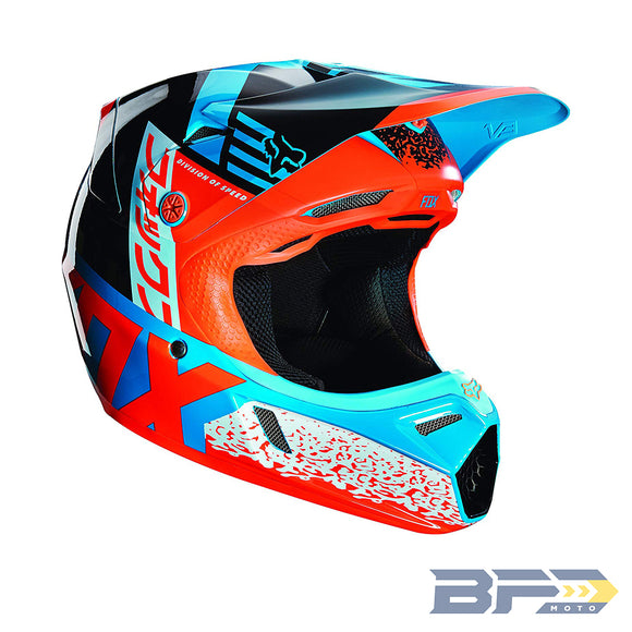 Fox V3 Youth Divizion Helmet - BFD Moto