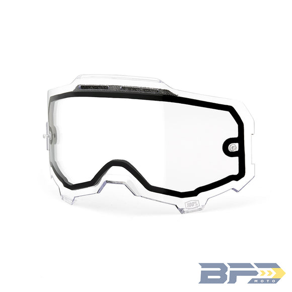 100% Armega Goggle Replacement Dual Pane Lens - BFD Moto