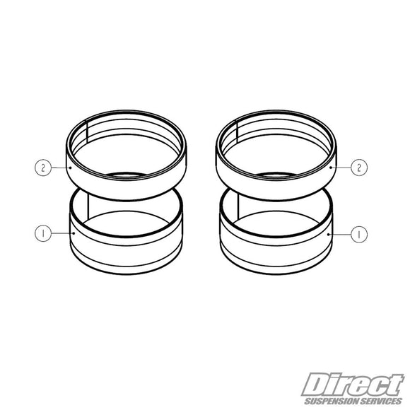 WP Suspension Fork Bushing Kit - BFD Moto