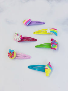 [AHC27] Rainbow Unicorn Hair Clip Set