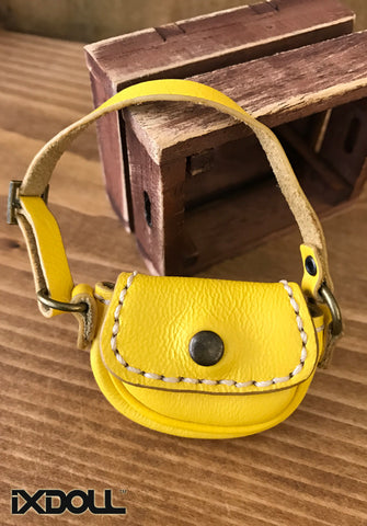 [ABG01] Handmade Leather Bag (Yellow)