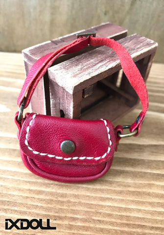 [ABG02] Handmade Leather Bag (Red)