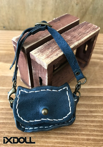 [ABG14] Handmade Leather Bag / Navy Suit Meow
