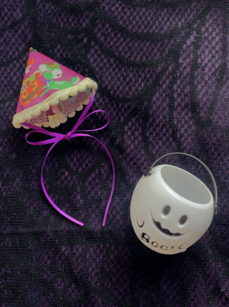 [AH-WB01] Halloween Party Hat with Treat Bucket (Boo)