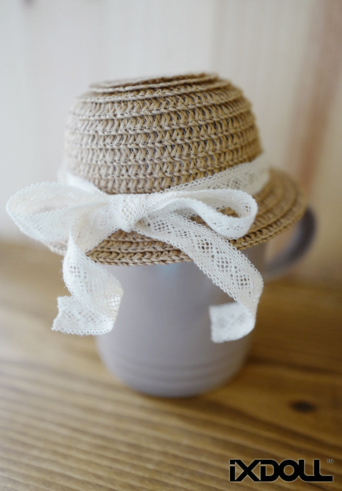 [AHT12] Handmade Straw Hat / Tan