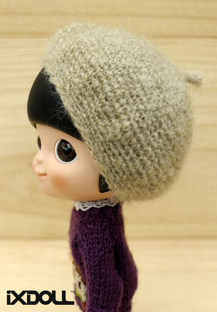 [AHT15] French Knit Artist Hat / Tortilla