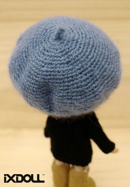 [AHT17] French Artist Hat (Turquoise Blue)