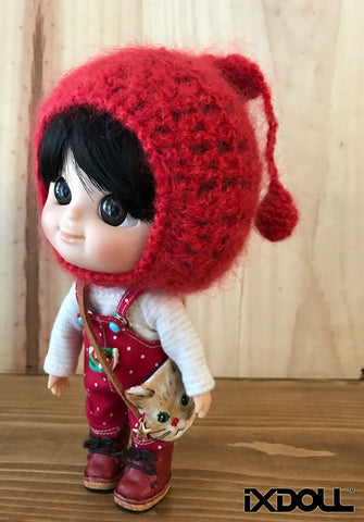 [AHT32] Pixie Knit Hat / Stop Sign Red
