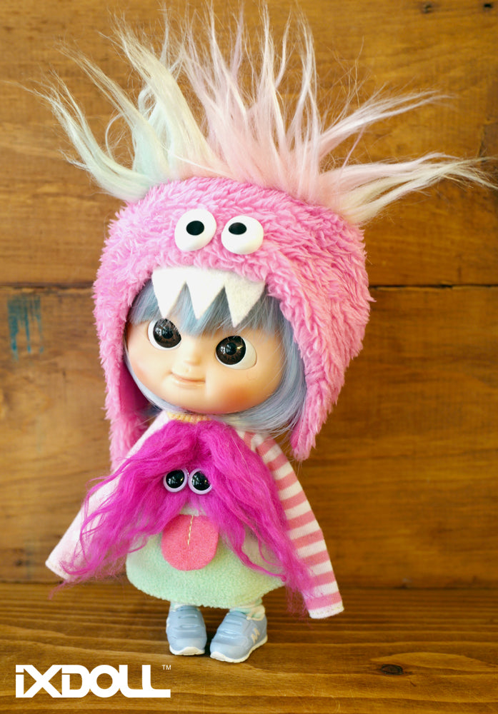 [AHT38] Scary Monster Hat / Cupcake Pink