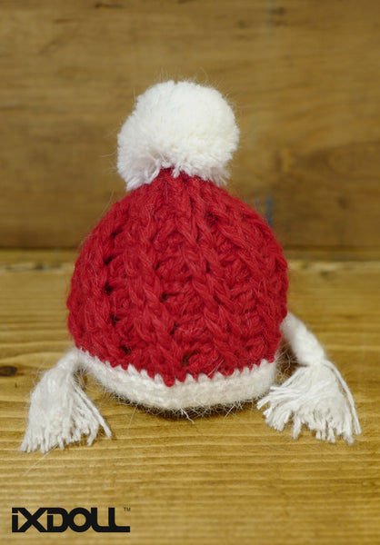 [AHT48] X'mas Braid Hat / Red