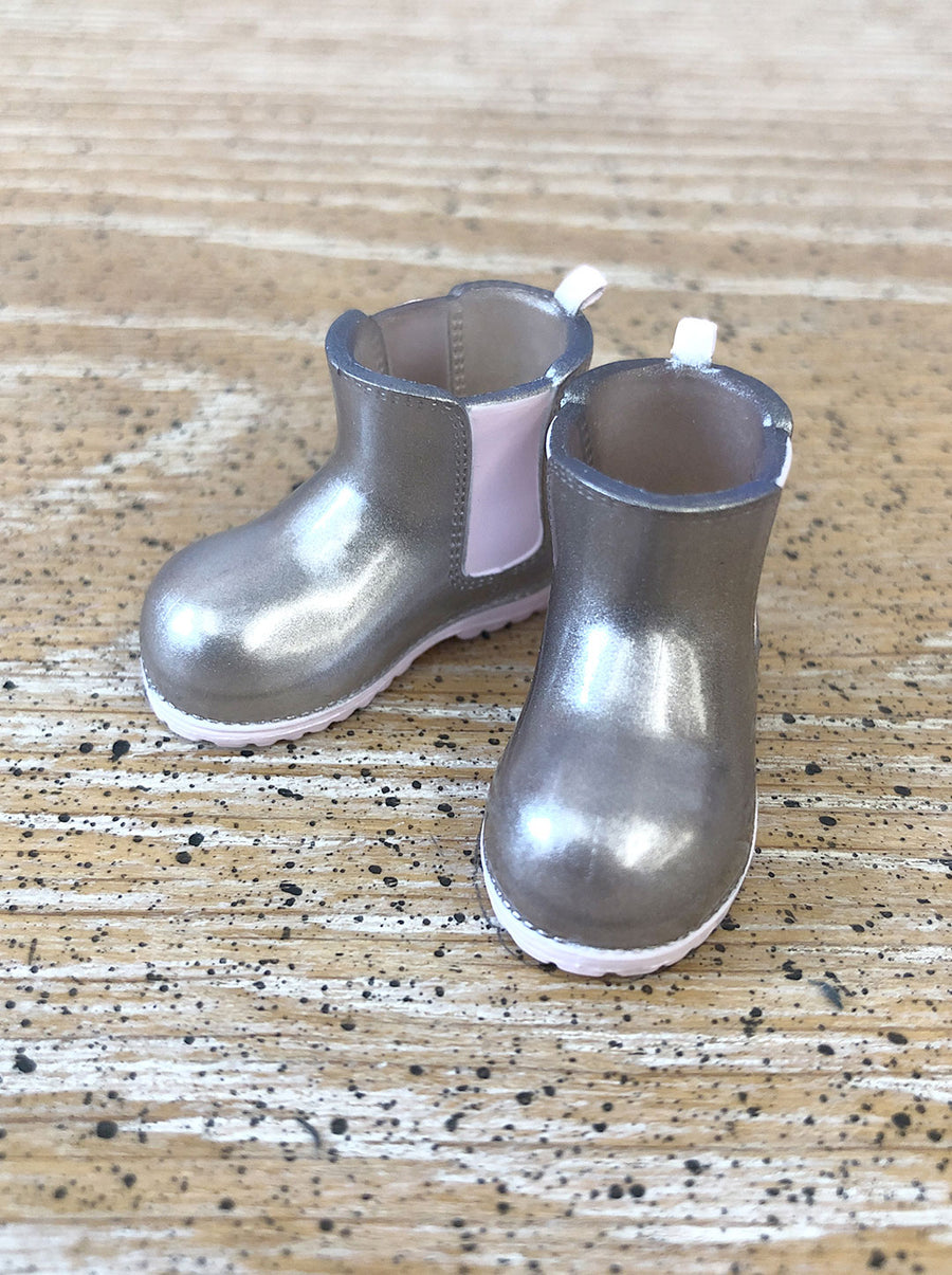 [APS27] Transparent rain boot in Silver Boots